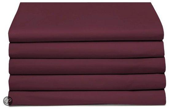 Laken katoen 240 x 260 (66) burgundy Standaard Damai
