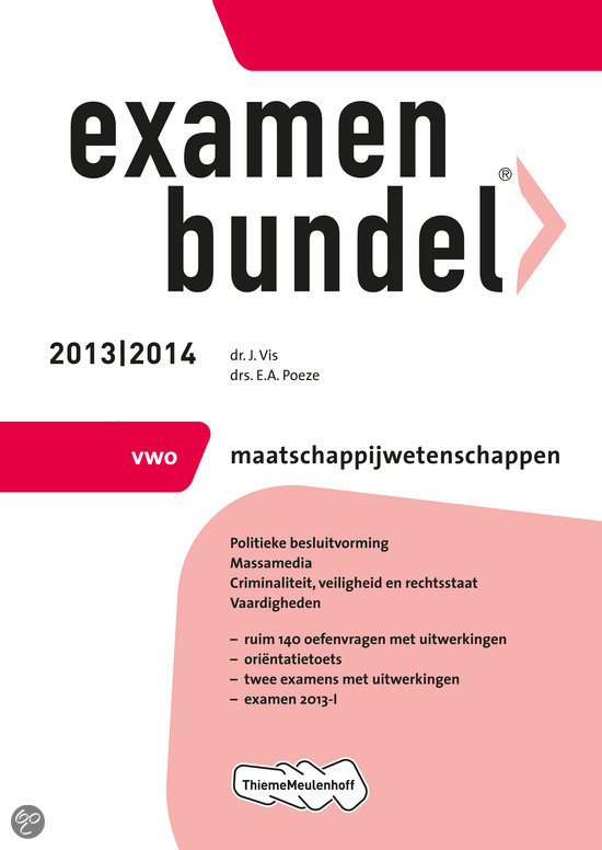 Examenbundel / 2013/2014 vwo Maatschappijwetenschappen