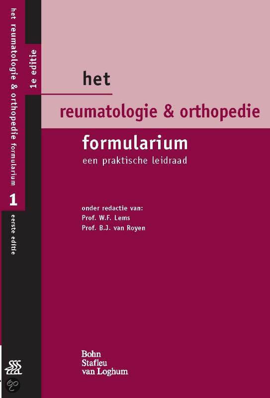 Het Reumatologie & Orthopedie Formularium