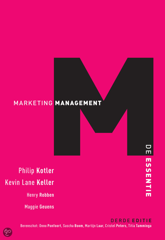 Marketingmanagement, De Essentie