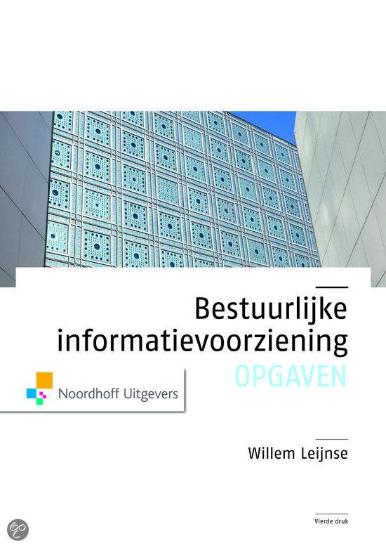 Bestuurlijke informatievoorziening / Opgaven