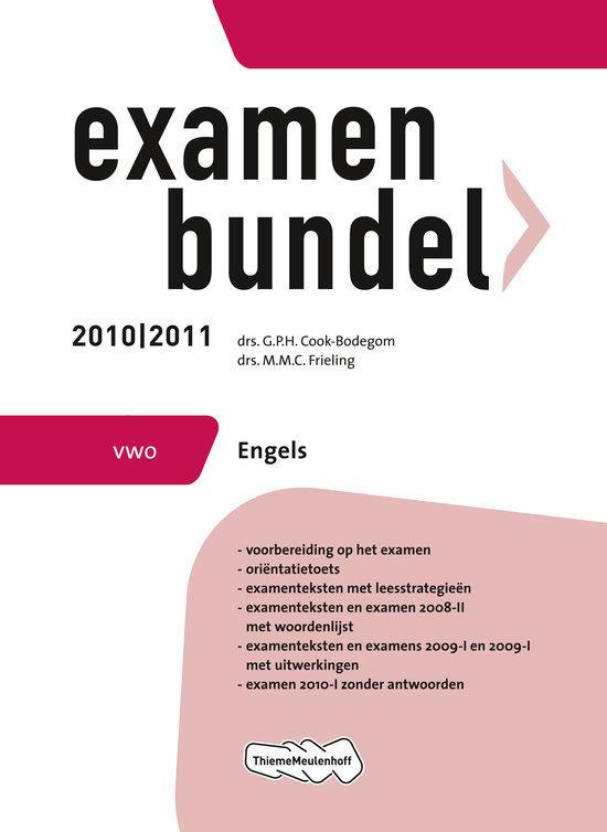 Examenbundel Engels / VWO 2010/2011