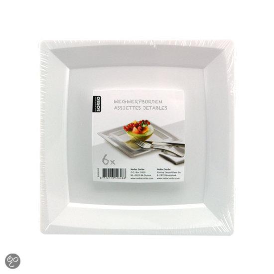 Vierkante plastic borden