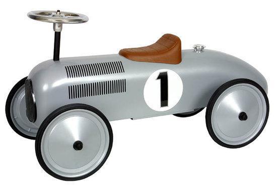 metalen loopauto racer zilver marquant. Black Bedroom Furniture Sets. Home Design Ideas