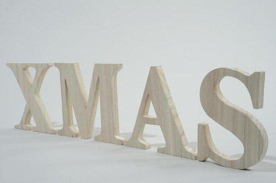Xmas letters van hout - X houten ...