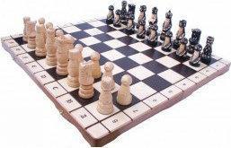 Decoratief handgeschilderd schaakspel