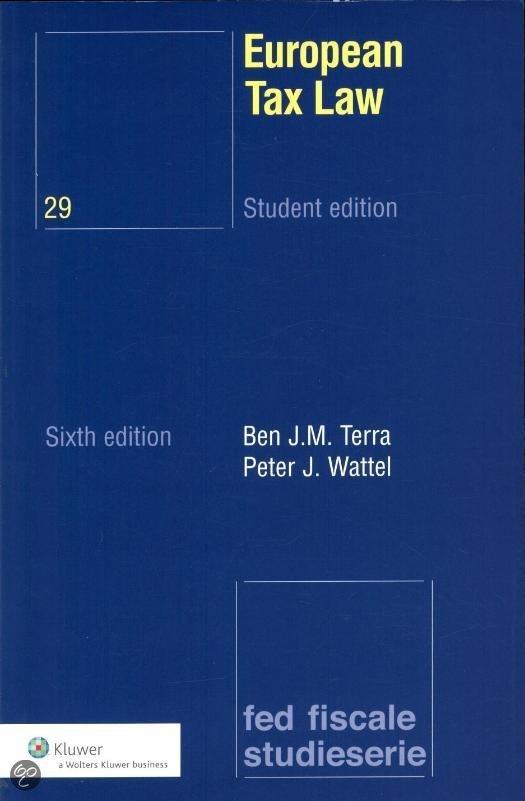 European Tax Law / deel Student edition