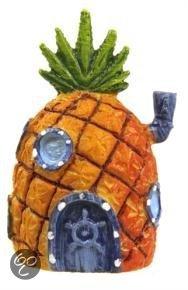 Nickelodeon Aquarium Ornament - Spongebob - Ananashuis - oranje - 5 cm
