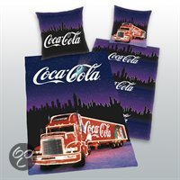 dekbedovertrek coca cola paars 1 persoons 140x200 cm 1 sloop. Black Bedroom Furniture Sets. Home Design Ideas