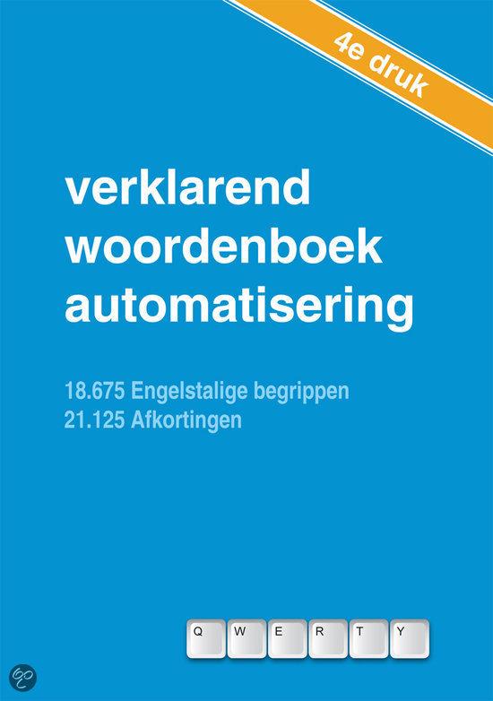 Verklarend woordenboek automatisering