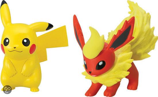 bol.com : Poku00e9mon XY - 2 Kleine Figuren Sack Pikachu en Flareon,Tomy ...