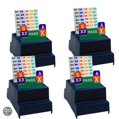 Afbeelding van het spel Set van 4 Bridge Biddingboxen NBB, blauw