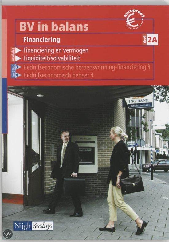 BV in balans / Financiering 2A / deel Leerlingenboek