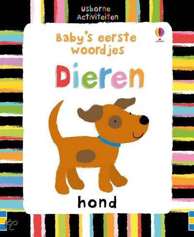 Usborne activiteitenkaarten: Baby's eerste woordjes Dieren