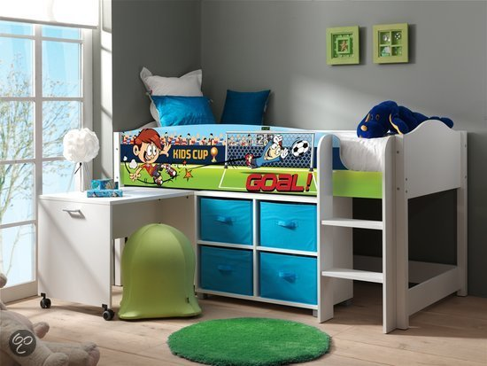 vipack hoogslaper halfhoogslaper met bureau lollipop voetbal. Black Bedroom Furniture Sets. Home Design Ideas