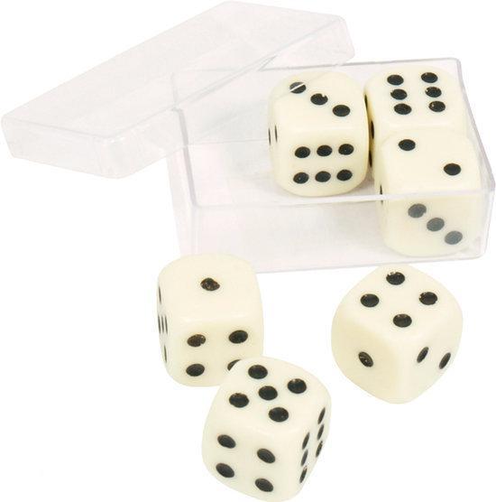 Afbeelding van het spel 6 dobbelstenen 16mm in doosje