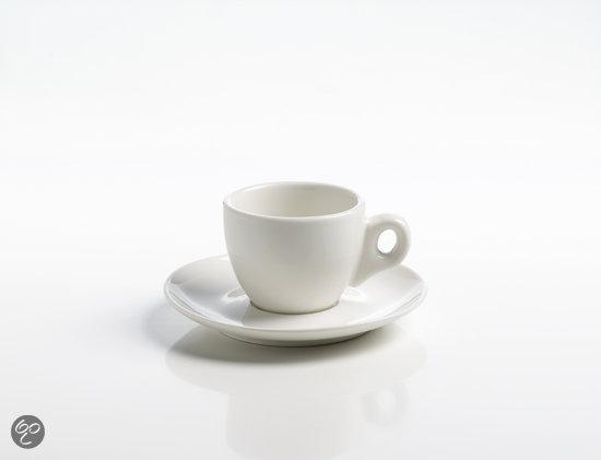 Maxwell & Williams White Basics Round Espressokop met Schotel - 0.08 l
