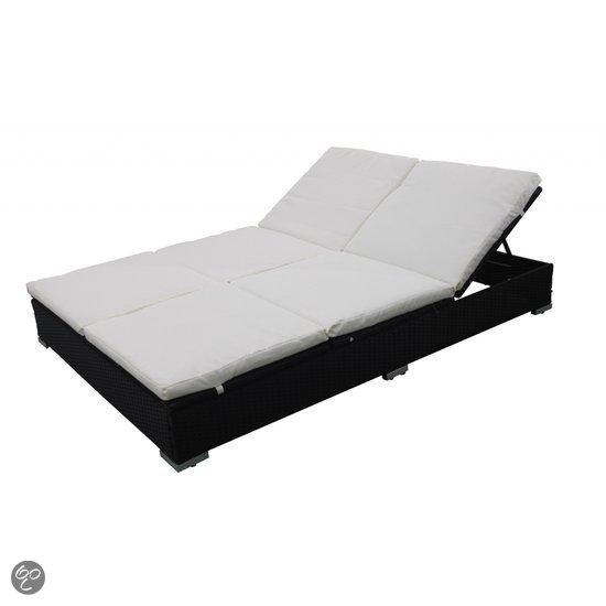 vidaxl ligbed wicker ligbed 2 persoons zwart 40459 tuin. Black Bedroom Furniture Sets. Home Design Ideas