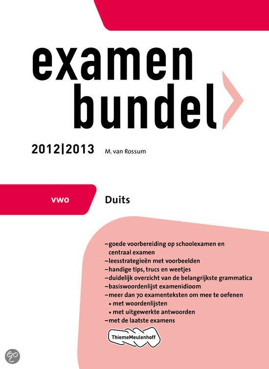 Examenbundel vwo / Duits 2012/2013