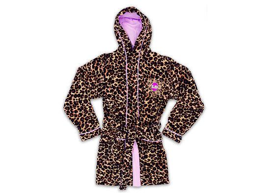 Shiny Flirt Bathrobe LD Leopard S