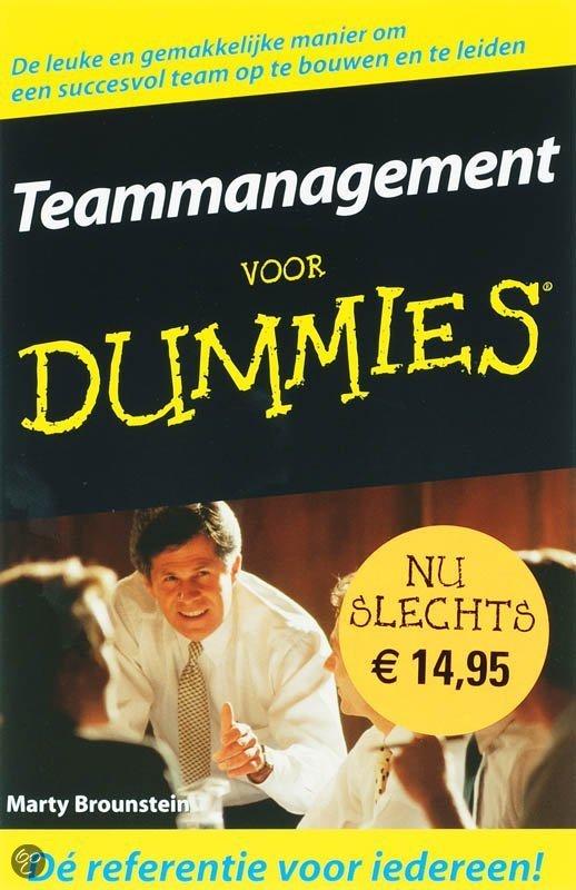 Teammanagement voor dummies / druk Heruitgave