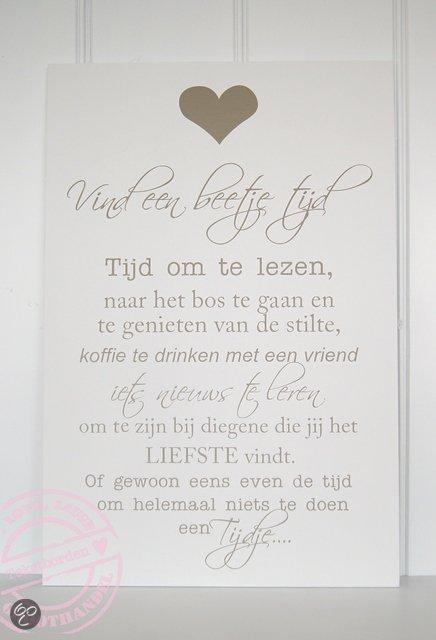 Tekstbord Keuken : .nl Wand- of plafonddecoratie Tekstbord vind een beetje tijd
