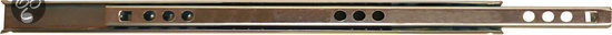 Qlinq Ladegeleider Inbouw - Verzinkt - 21 cm x 17 mm - 2 Stuks