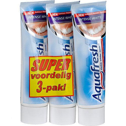 Aquafresh Intense White - 3x 75 ml - Tandpasta