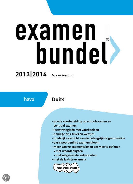 Examenbundel / 2013/2014 havo Duits