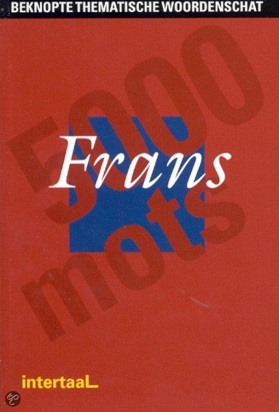 Beknopte thematische woordenschat Frans