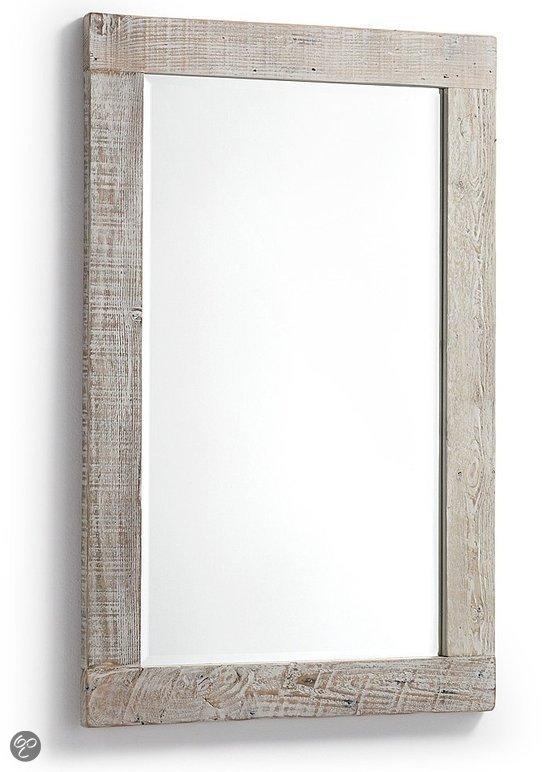 Laforma hycks spiegel hout 110x70 cm grijs - Spiegel cm ...