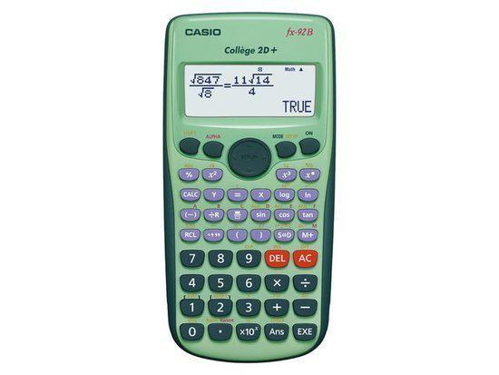 casio fx 92 college 2d wetenschappelijke rekenmachine