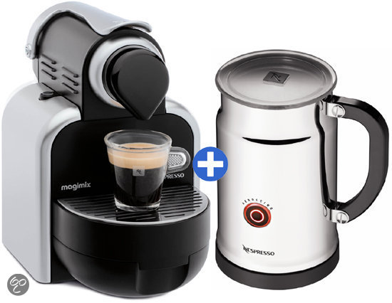 magimix nespresso apparaat m100 automatic aeroccino plus zilver. Black Bedroom Furniture Sets. Home Design Ideas