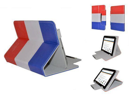 Diamond Class Hoes voor Aoc Breeze Tablet G7 Dc Mw0731 , Cover met Rood-Wit-Blauw vlag motief, merk i12Cover in Arum