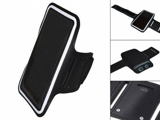 Comfortabele Smartphone Sport Armband voor uw Archos 50 Helium 4g, zwart , merk i12Cover in Ammerzoden