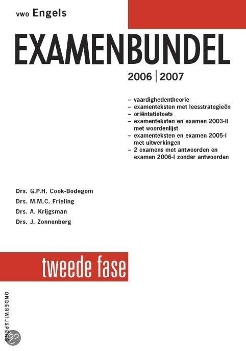Vwo Engels Examenbundel 2E Fase