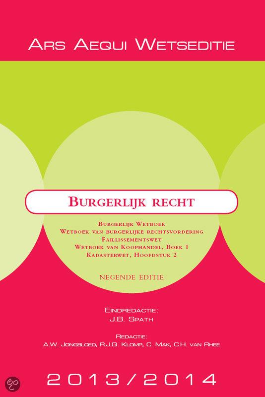 Burgerlijk recht 2013/2014