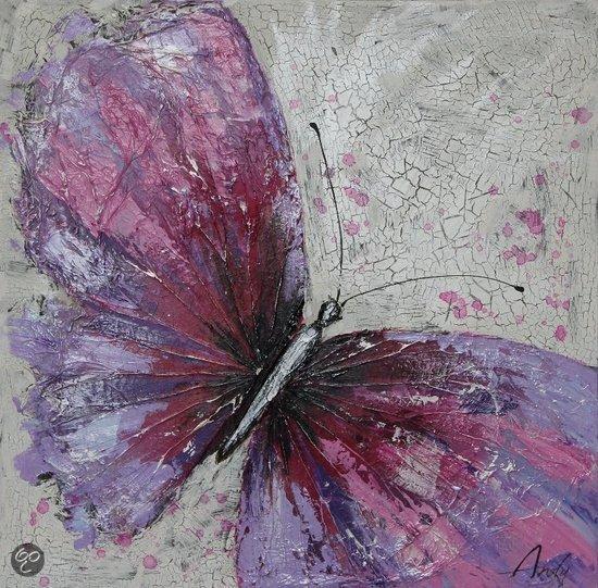 bol.com : schilderij de paarse vlinder Schilderij puurschilderijen