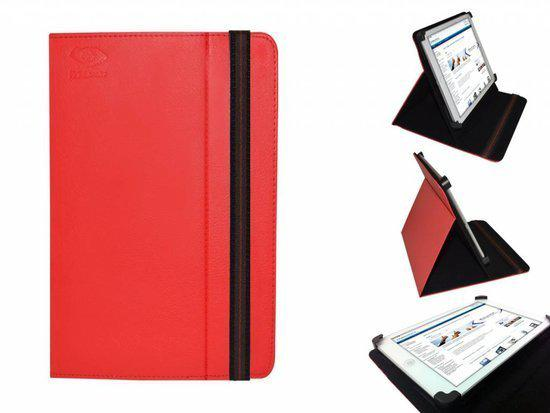 Uniek Hoesje voor de Point Of View Protab 2.4 - Multi-stand Cover, Rood, merk i12Cover in Herveld-Zuid