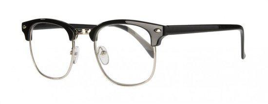 Icon Eyewear NCB211 Clubmaster Leesbril +1.00 - Glanzend zwart