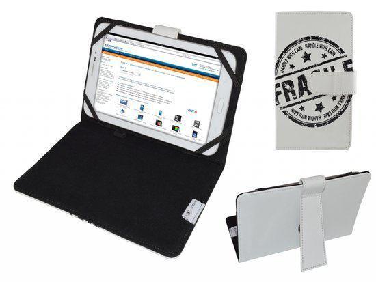 Hoes voor Eken Gm70x, Cover met Fragile Print, Wit, merk i12Cover in Buren / Bueren
