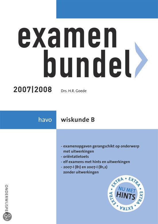 Examenbundel Havo Wiskunde B