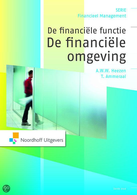 De financiele functie: De financiele omgeving