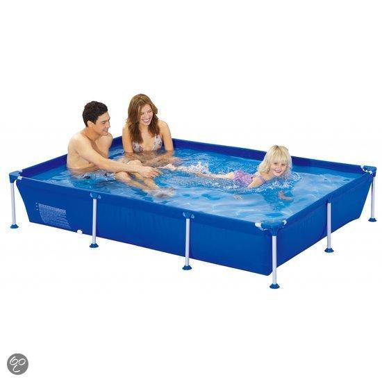 Zwembad rechthoekig met pomp