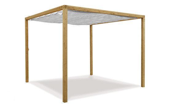 Hillhout coolfit paviljoen met antracietdoek - Doek voor tuinborstel ...
