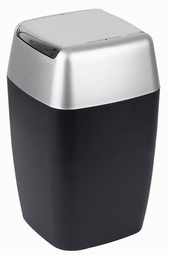 bol.com | Spirella Retro - Vuilbak - Zwart - 20 x 20 cm