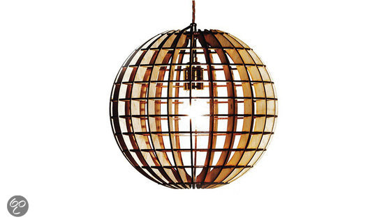 Massow design hemmesphere hanglamp hout for Design lamp hout