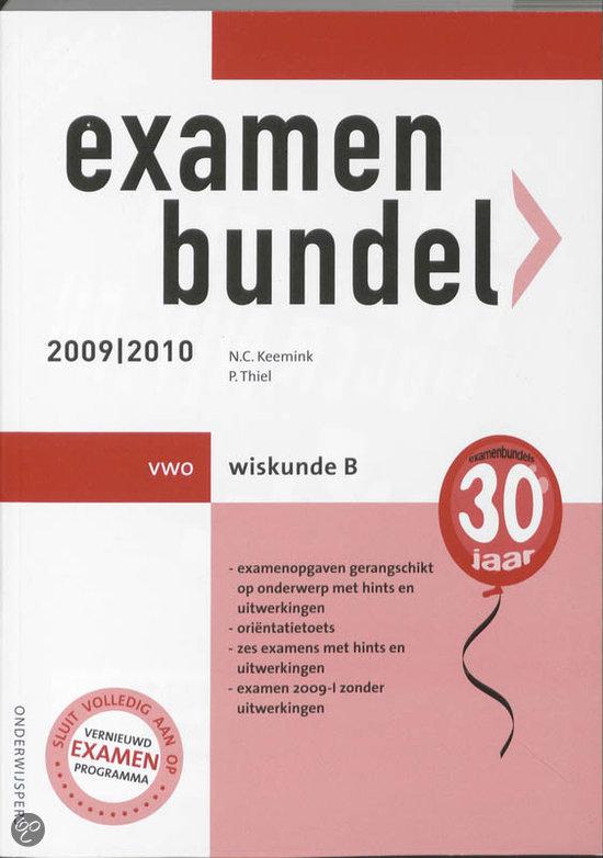 Examenbundel Wiskunde B Vwo 2009/2010