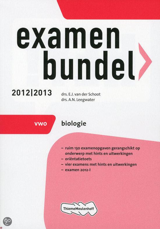 Examenbundel vwo / Biologie 2012/2013