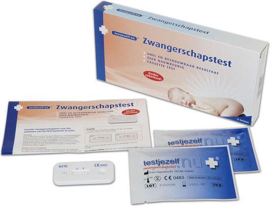 Testjezelf.nu - Zwangerschapstest Cassette - 3 stuks - Zwangerschapstest